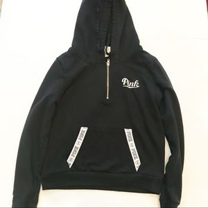 Victoria's Secret PINK 1/4 Zip Hooded Sweatshirt